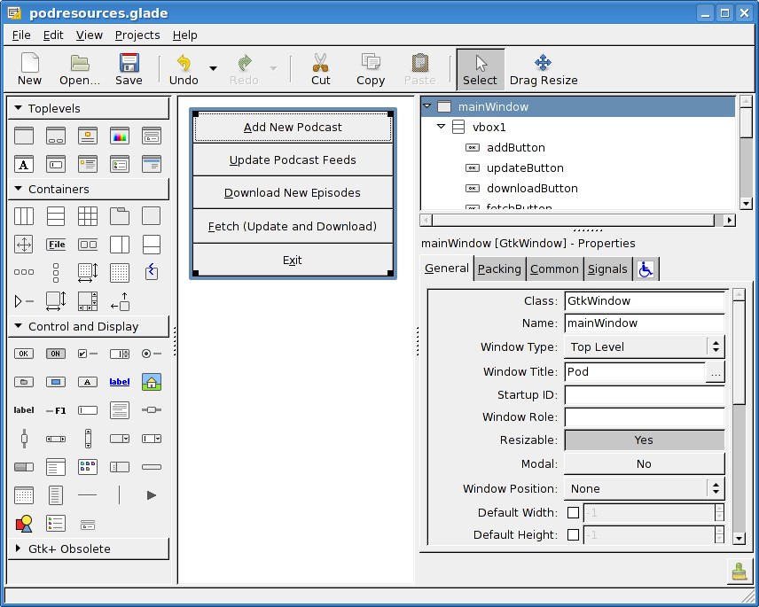 Graphical User Interface Examples